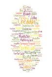 Opción del queso Foto de archivo libre de regalías