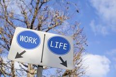 Opción del trabajo o de la vida Fotografía de archivo libre de regalías