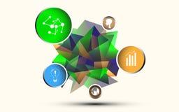 Opción e icono bien escogidos del polígono stock de ilustración