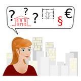 Opción entre una casa residencial privada o plano ilustración del vector