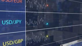 Opción financiera de compra-venta y bajar más alto, interfaz del comercio de la fluctuación de moneda stock de ilustración