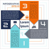 Opciones abstractas cuadradas de Infographics cuatro opciones con las flechas libre illustration