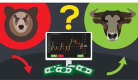 Opciones binarias stock de ilustración