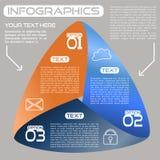 Opciones brillantes de la cinta infinita de las opciones de Infographics tres ilustración del vector