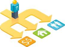Opciones de ISO_Three de la gente del juguete Imágenes de archivo libres de regalías