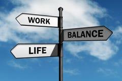 Opciones de la balanza de la vida del trabajo Foto de archivo libre de regalías