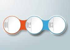 Opciones de la cadena 3 del círculo stock de ilustración
