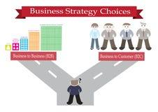 Opciones de la estrategia empresarial stock de ilustración