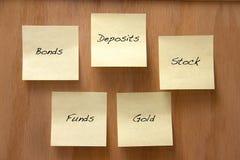 Opciones de la inversión Imagenes de archivo