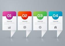 Opciones de la plantilla cuatro de Infographics con el cuadrado stock de ilustración