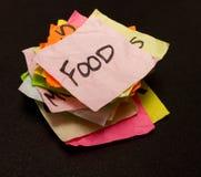 Opciones de la vida - gastar dinero en el alimento Imagen de archivo libre de regalías