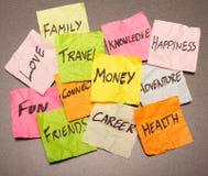 Opciones de la vida - tomar decisiones Foto de archivo libre de regalías