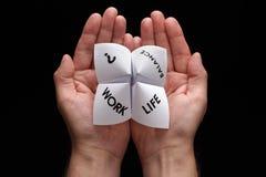 Opciones del balance de la vida del trabajo Imagen de archivo libre de regalías