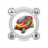 Opciones del coche eléctrico libre illustration