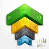 opciones del paso del negocio del diagrama de la escalera de la flecha 3d. libre illustration