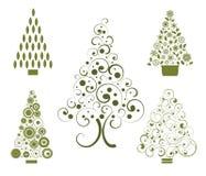 Opciones del árbol de navidad Imagen de archivo