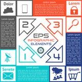 Opciones del tablero de damas de Infographics cuatro opciones ilustración del vector