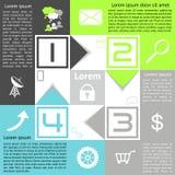 Opciones del tablero de damas de Infographics cuatro opciones con las flechas stock de ilustración