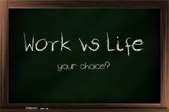 Opciones del trabajo contra vida Fotografía de archivo