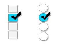 Opciones a elegir Fotografía de archivo