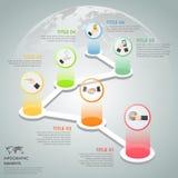 Opciones infographic de la plantilla 6 del diseño libre illustration