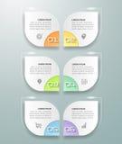 Opciones infographic de la plantilla 6 del diseño ilustración del vector