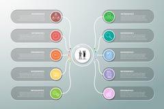 Opciones infographic de la plantilla 10 del diseño libre illustration