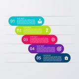 Opciones infographic del ejemplo del vector cinco stock de ilustración