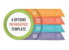 4 opciones Infographics ilustración del vector