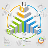 opciones modernas del paso del negocio del diagrama de la escalera 3d libre illustration