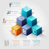 opciones modernas del steb del negocio del diagrama de la escalera 3d. stock de ilustración