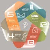 Opciones retras del color cinco de la cinta infinita de las opciones de Infographics ilustración del vector