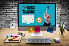 OPCJA handlu inwestycja w opcja handlu handlowa biznes co Zdjęcie Stock