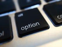 Opcja Komputerowy klucz Zdjęcie Stock