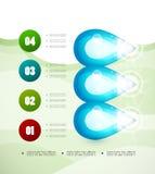 Opcja sztandaru nowożytny infographic Zdjęcia Royalty Free