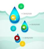 Opcja sztandaru nowożytny infographic royalty ilustracja