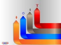 Opcja sztandary infographic royalty ilustracja