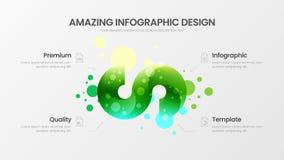 4 opcji marketingowych analityka wektorowy ilustracyjny szablon Biznesowych dane projekta układ Skarbikowanych organicznie statys ilustracja wektor