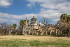 Opdracht Concepción, San Antonio, Texas royalty-vrije stock afbeelding