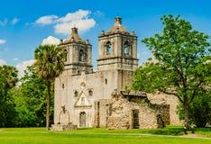 Opdracht Concepción in San-antonio Texas royalty-vrije stock afbeelding