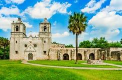 Opdracht Concepción in San-antonio Texas royalty-vrije stock afbeeldingen