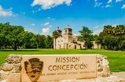 Opdracht Concepción in San-antonio Texas stock afbeeldingen