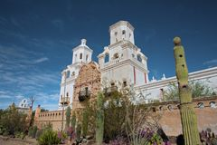 Opdracht San Xavier del Bac, Arizona Stock Foto