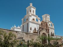 Opdracht San Xavier del Bac in Tucson royalty-vrije stock foto's