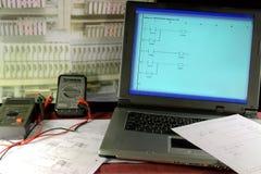 Opdragende automatische controle moderne apparatuur Stock Foto