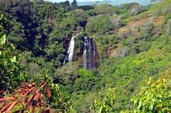 Opaekaa Falls royalty free stock photography