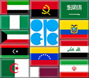 OPEC Countries. Illustration of the Organization of the Petroleum Exporting Countries (OPEC). OPEC consists of 12 member countries as at year end 2011 Royalty Free Stock Images