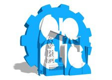 OPEC union emblem on gear Stock Image