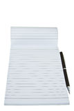 Opeded notepad with pen Royalty Free Stock Photos
