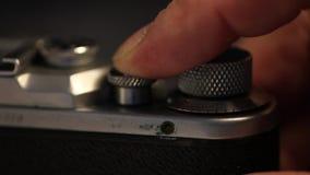 Opeenvolging van blind de oude photocamera stock footage